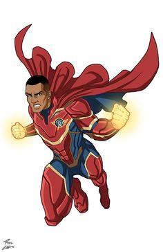 Alphatron OC commission by phil-cho on DeviantArt Superhero Books, Superhero Characters, Superhero Design, Superhero Suits, Fantasy Character Design, Character Design Inspiration, Comic Books Art, Comic Art, League Of Heroes