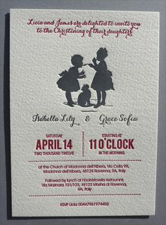 Home : Ten Fantastic Stationery Designers  Letterpress Baptism / Christening Invitations by BiplanePress