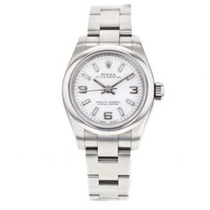 Ladies Rolex Oyster Perpetual 26mm 17600 Automatic Stainless Steel Watch wPAPERS #Rolex #LuxurySportStyles