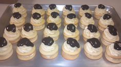 Chocolate eclair cupcake cookies by the twisted cookie