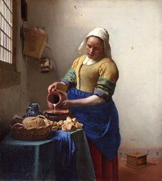 Johannes Vermeer (Dutch, 1632 - 1675) The Kitchen Maid