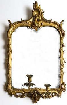 What a great Vintage Mirror with candle holders....would be gorgeous with candles lit up!