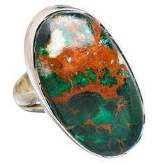 Large Shattuckite 925 Sterling Silver Ring Size 7.25 RING761817