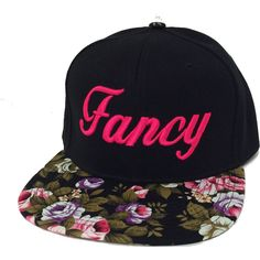 FANCY 3D Flat Bill Snapback Hat Hip Hip Im so Fancy Cap Floral Bill Black  Snapback 75a674fb0b6c