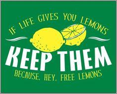 free lemons.