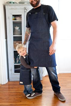 Selvage Denim Work Apron.