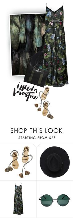 """""""Tropical Green and Black"""" by hollowpoint-smile ❤ liked on Polyvore featuring Isabel Marant, Fleur du Mal, YHF and Yves Saint Laurent"""