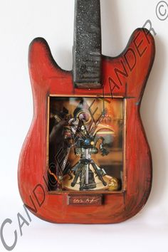 3D Photography Guitar Frame. This is handmade, hand painted and embellished guitar. $450.00 #candicealexander #louisiana #nola  #guitar #3dart #photography