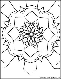 Kaleidoscope Coloring Pages Find beautiful coloring pages at TheColoringBarn.com!