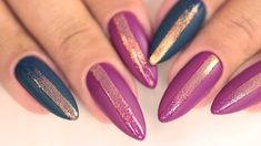 GLAM STRIPE czyli MAT i BŁYSK | America GO Semilac Manicure, Nails, Uv Led, Nail Inspo, Glitter, America, Youtube, Chrome, Nail Bar