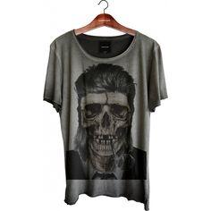 Camiseta Relax - David Bowie Skull