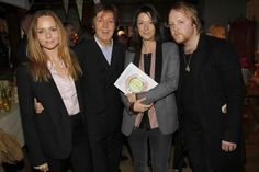Stella Paul Mary and James at the launch for Mary's new Vegatarian cookbook