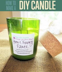 How To Make A Candle | DIY Candle Making Tutorial | Cool DIY Home Decor Idea using Cut Glass Wine Bottles or other Repurposed Bottles for Crafts http://diyready.com/candle-making-basics-how-to-make-candles/