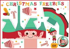 elf paper toy #free #printable #christmas #holidays #kids #diy #crafts
