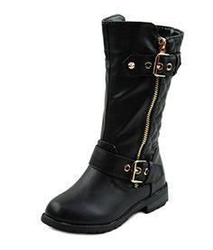 Mango-21k Little Girls New Knee High Flat Riding Boots Shoes (9, Black) Link http://www.amazon.com/dp/B00OJMLCV6/ref=cm_sw_r_pi_dp_.wmJub0K953WK