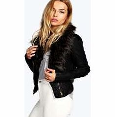 boohoo Faux Fur Collar Faux Leather Biker Jacket - Breathe life into your new season layering with the latest coats and jackets from boohoo. Supersize your silhouette in a quilted jacket, stick to sporty styling with a bomber, or protect yourself from http://www.comparestoreprices.co.uk/womens-clothes/boohoo-faux-fur-collar-faux-leather-biker-jacket-.asp