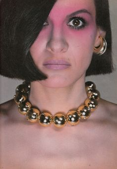 Paloma Picasso modelling her jewelry line for Tiffany  Vogue US - November 1980 Photographed by Richard Avedon