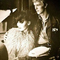 David Bowie and Romy Haag