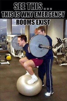 This is why emergency rooms exist..   #DoNotTryThis   #iLiveFit #LIVEFIT! #JOINTHEFITREVOLUTION!