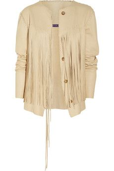 Carson fringed leather jacket by Ralph Lauren Collection