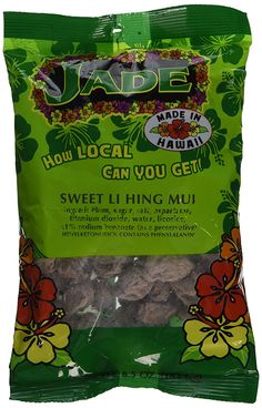Jade Sweet Li Hing Mui Dried Plums 6.5 Ounces Made in Hawaii -- For more information, visit image link.