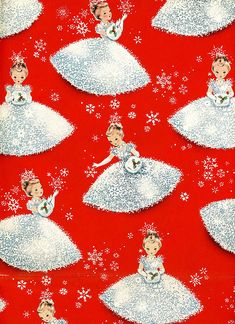 girls wrapping paper...i wish they would have pretty paper like this again,it's so plain these days