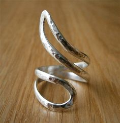 Organic sterling silver ring - very nice for the pointer finger
