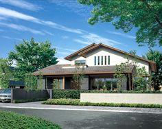 Japan Modern House, Modern Tropical House, Modern Tiny House, Tropical Houses, Facade House, House Roof, Dream Home Design, House Design, Building Design