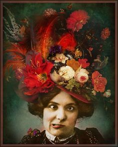 The Whimsey Asylum...: OPHELIA BEDELIA's FASHIONABLY FABULOUS GO TO HELL HAT... SPA's HATS CHALLENGE...