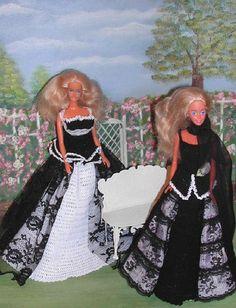 Crochet Fashion Doll Barbie Pattern- #468 BEAUTIFUL IN BLACK