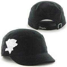 '47 Brand Pittsburgh Penguins Ladies Sparkle Fidel Adjustable Cadet Hat - Black - FansEdge.com