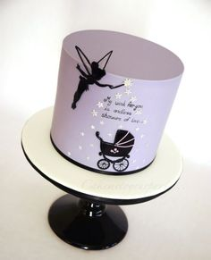 Tinkerbell Baby Shower Cake - Cake by Leah Jeffery - CakesDecor