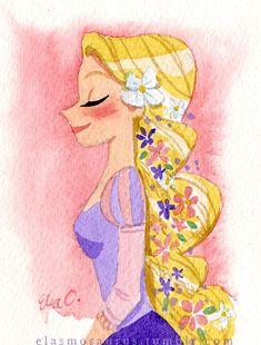 Rapunzel by Elsa Chang / elasmosaurus