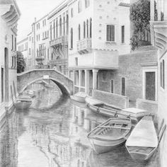 Idyllic scene—and all in pencil!—by Diane Cardaci.