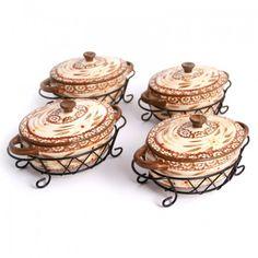 temp-tations by Tara: temp-tations® Old World Set of 4 Mini Oval Covered Casseroles