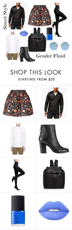 """""""Street Style - Skirt for a man"""" by genderschmender ❤ liked on Polyvore featuring RED Valentino, JayWalker, PS Paul Smith, rag & bone, Commando, DKNY, NARS Cosmetics, Lime Crime, Sunday Somewhere and genderfluid"""