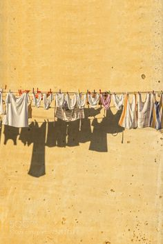 Clothesline Saga - Some laundry hung out to dry. Clothesline Saga - Some laundry hung out to dry. Line Photography, Family Photography, Laundry Art, Laundry Design, Laundry Rooms, Gcse Art Sketchbook, Clothes Line, Mellow Yellow, Art Inspo