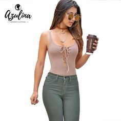 AZULINA Sexy Bodycon Jumpsuit Romper Women Sleeveless Backless Bandage Lace Up Knitted Summer Bodysuit Overalls Body femme 2017