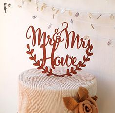 Personalized cake topper, wedding cake topper, rustic wedding cake topper, names cake topper, wooden cake topper - Cake and cupcake toppers (*Amazon Partner-Link)