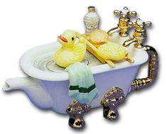 Een theepot bad!