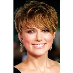 short light brunette hairstyles | Short Pixie Cut Celebrity Hairstyles keira knightley light brown short ...