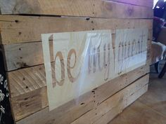 DIY Wooden Pallet Stenciled Wall Signs   99 Pallets