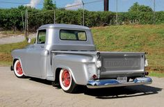 Gail and Butch Fairchild found this 1955 Chevy Stepside truck at Dorn's Auto Craft and customized it at their home shop.