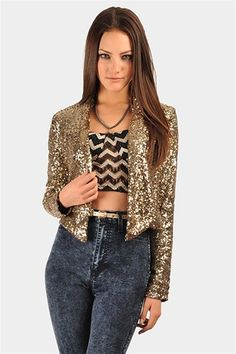 all saints gold sequin jacket.