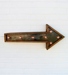 Small Arrow Marquee Light   Home Lighting   Against the Woodgrain   Scoutmob Shoppe   Product Detail
