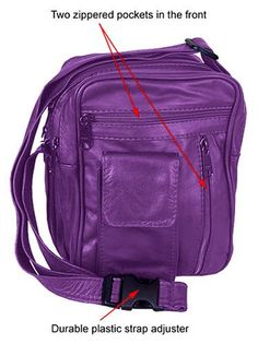 """Purple Unisex Leather """"Carry All"""" Bag Unknown http://www.amazon.com/dp/B001BNQP8G/ref=cm_sw_r_pi_dp_pzJJub0WPTXP1"""