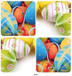 Húsvéti csempematrica - 15*15 cm, 4 db,  húsvét tojások