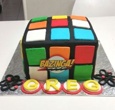 Bazinga cake Ma Baker, Cube, Drinks, Toys, Drinking, Beverages, Drink, Gaming