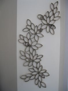 Toilet paper rolls project :) You just need couple of rolls, glue and scissors!