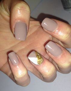Country Club Khaki with Nail Art